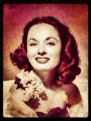 Ann Blyth, Vintage Actress By John Springfield Poster by John Springfield