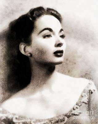 Ann Blyth, Vintage Actress Poster by John Springfield