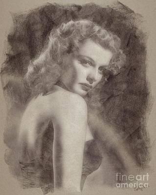 Ann Sheridan, Vintage Hollywood Actress Poster