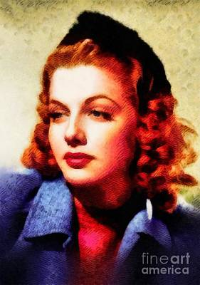Ann Sheridan, Vintage Hollywood Actress Poster by John Springfield