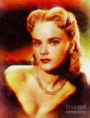 Anne Francis, Vintage Hollywood Actress Poster