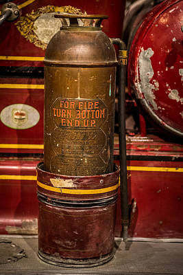 Antique Fire Extinguisher Poster