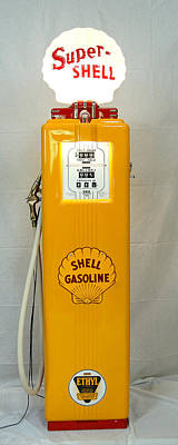 Antique Gas Pump Poster