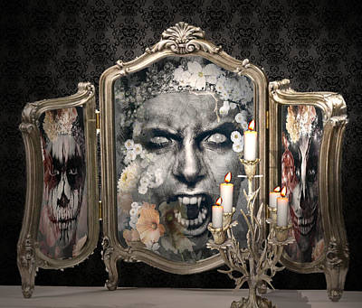 Antique Vampire Paintings Poster