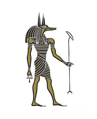Anubis - God Of Ancient Egypt Poster