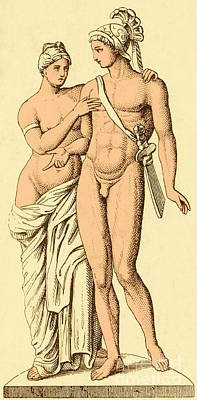 Aphrodite And Ares, Greek Olympians Poster