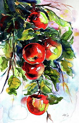 Apples Poster by Kovacs Anna Brigitta