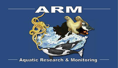Aquatic Research And Monitoring Logo Poster by Leizel Grant