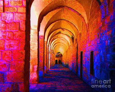 Arches Surreal Poster by Merton Allen