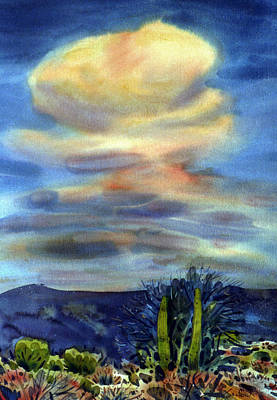 Arizona Thunderhead Poster by Donald Maier