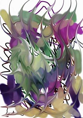 Poster featuring the digital art Art Abstract by Sheila Mcdonald