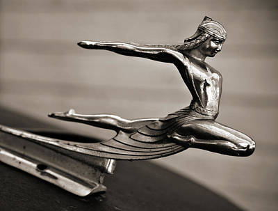 Art Deco Hood Ornament Poster by Marilyn Hunt