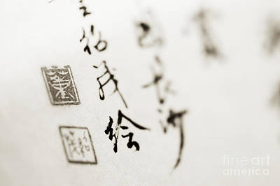Asian Calligraphy Poster by Ray Laskowitz - Printscapes