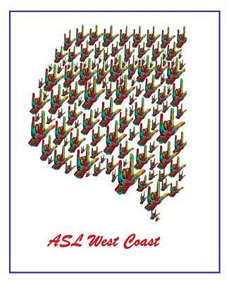 Asl West Coast Map Poster