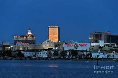 Atlantic City Skyline Poster