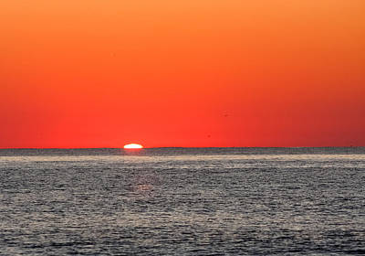 Atlantic Sunrise Poster by Allan Levin