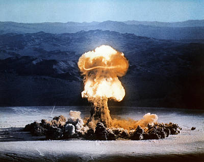 Atomic Bomb Explosion Poster