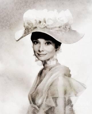 Audrey Hepburn, Vintage Hollywood Legend Poster