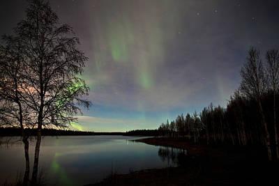 Aurora At The Lake Poster