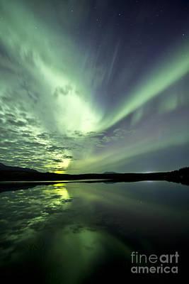 Aurora Borealis Over Schwatka Lake Poster by Jonathan Tucker