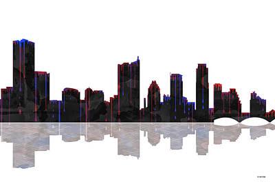 Austin Texas Skyline Poster by Marlene Watson