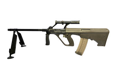 Austrian 5.56mm Steyr Aug Light Support Poster by Andrew Chittock