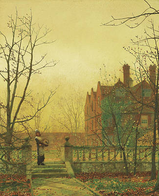 Autumn Gold Poster by John Atkinson Grimshaw