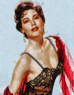 Ava Gardner Hollywood Actress Poster
