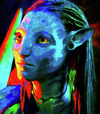 Avatar - Van Gogh Style Over Oil Canvas Poster by Leonardo Digenio