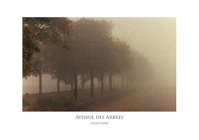 Poster featuring the digital art Avenue Des Arbres by Julian Perry