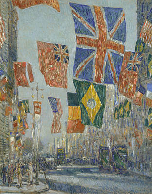 Avenue Of The Allies, Great Britain Poster by Childe Hassam
