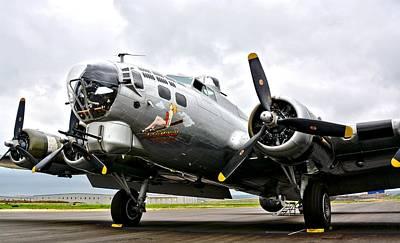 B-17 Bomber Airplane  Poster
