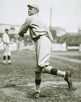 Babe Ruth Pitching Poster by Jon Neidert