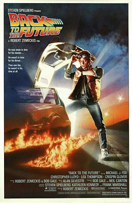 Back To The Future Delorean Part 1 Poster