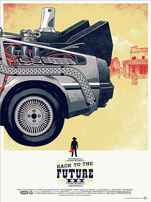 Back To The Future Delorean Part 3 Poster