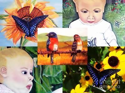 Backyard Summertime Garden Gifts  Poster by Kimberlee Baxter