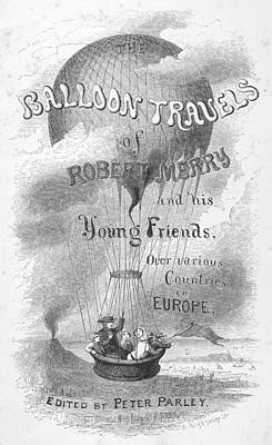 Balloon Travels, 1855 Poster by Granger