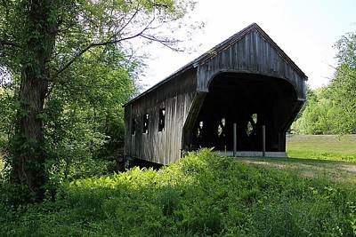 Baltimore Covered Bridge Poster by Wayne Toutaint
