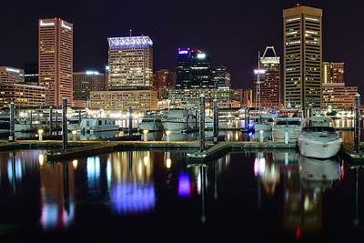 Baltimore Harbor Lights Poster
