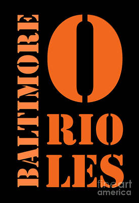 Baltimore Orioles Typography Poster by Pablo Franchi