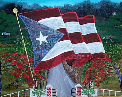 Bandera De Puerto Rico Poster