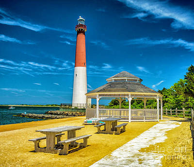 Poster featuring the photograph Barnegat Lighthouse Park by Nick Zelinsky