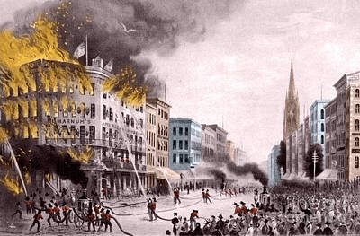 Barnums Museum Fire, 1865 Poster by Science Source