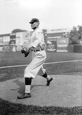 Baseball Star Walter Johnson Poster by Underwood Archives