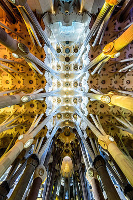 Basilica De La Sagrada Familia Poster by Randy Scherkenbach