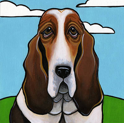 Basset Hound Poster by Leanne Wilkes