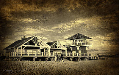 Beach House Poster by Lourry Legarde