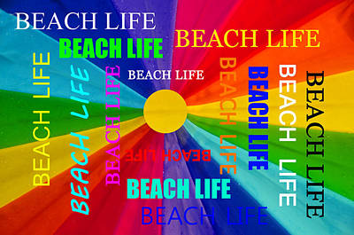 Beach Life Poster by David Lee Thompson