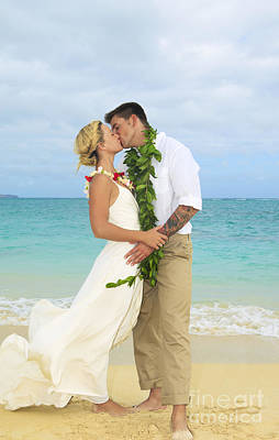 Beach Newlyweds Poster