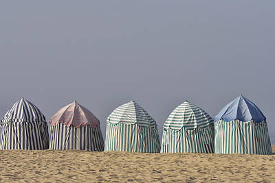 Beach Tents Poster